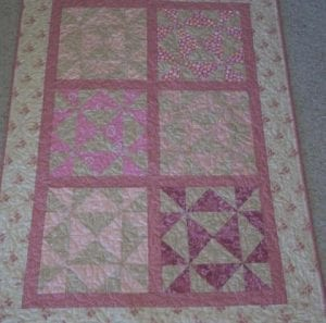 rose beige crib quilt vintage fabrics catherine little