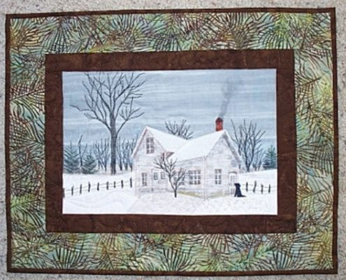 farmhouse winter country quilt landscape catherine little