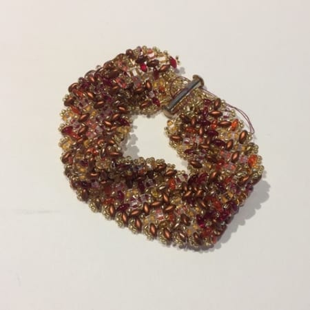 Red, Brown, and Yellow Bracelet