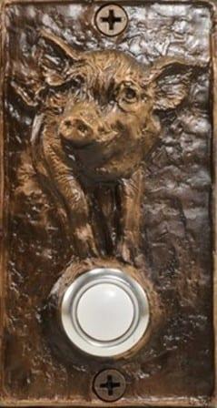 Bronze Pig Doorbell