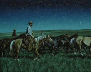ogalala cowboys horses night dreams tobias sauer western art
