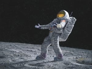 anyone out there alan bean astronaut space suit moon exploration