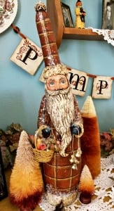 autumn harvest christmas holiday santa sculpture sheryl parsons artist