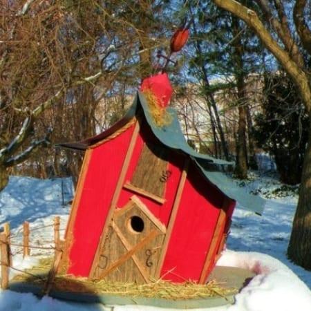 Leaning Barn (birdhouse)