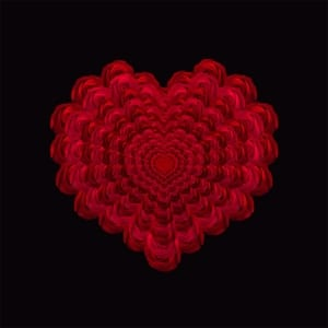 love layers red heart flower fractal art photography debbie lind wallowa