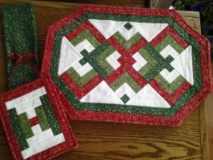 christmas lovers know placemat set quilting sewing fabric patricia bennett