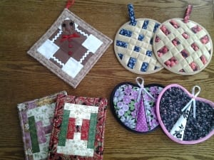 potholders quilting kitchen gift seewing items patricia bennett