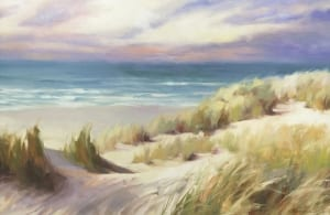 sea breeze oregon coast ocean beach sand steve henderson coastal art painting