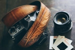 feather leather camera strap colladay jeremiah handcrafted western