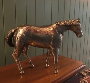 horse equine metal steel sculpture anne behlau art