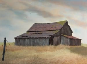 barn country farm ranch rural david partridge oil painting art