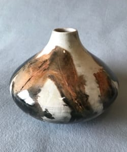 pit fired pottery feathers dennis zupan teacher artist
