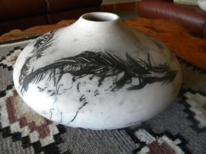 feathered seed jar pottery dennis zupan artist teacher