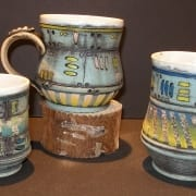 blue rocket ceramics pottery mugs kassie smith