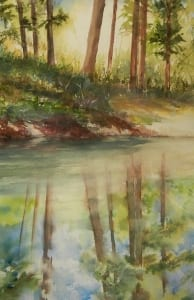 pond landscape country plein air vogtman watercolor