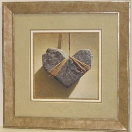 Dianes Broken Heart - framed