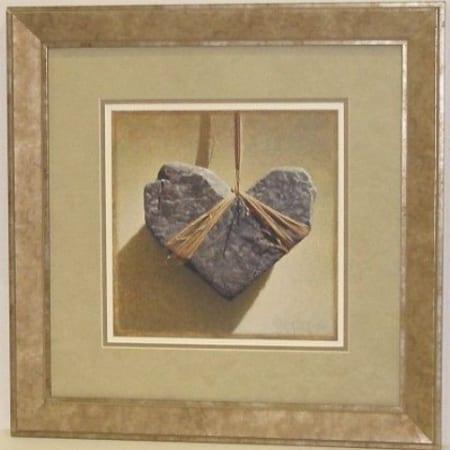 Dianes Broken Heart - framed