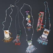 beaded amulet necklaces bead weaving alison oman