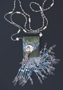 mermaid seahorse beaded amulet necklace alison oman