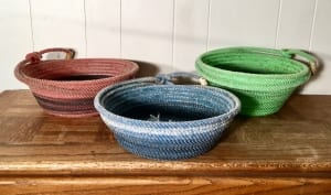 rope baskets brightly colored western gifts nancy waldron
