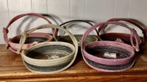 Rope baskets handles western gifts nancy waldron