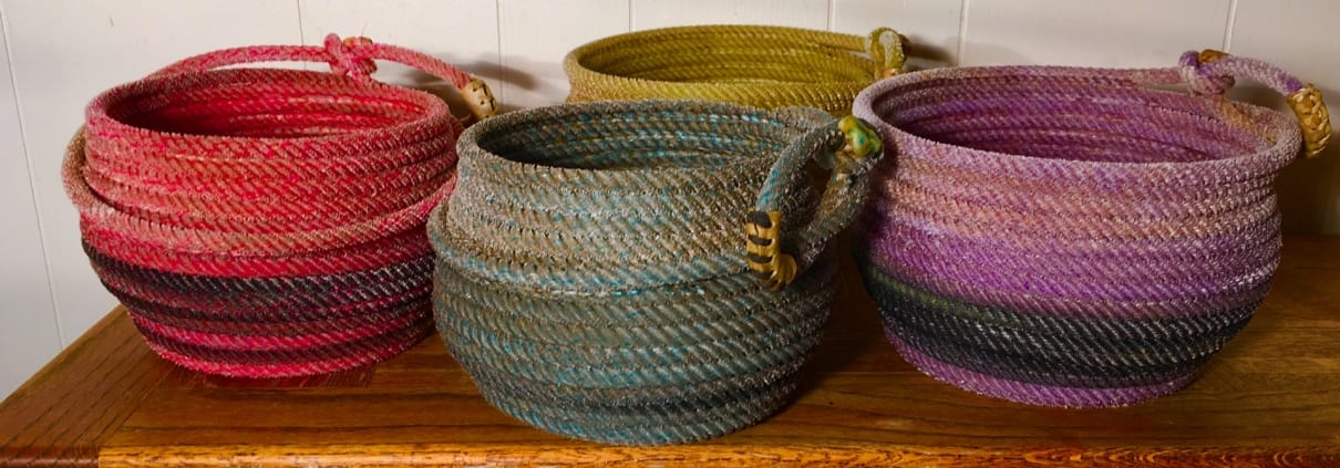 Rope baskets team roping western gifts nancy waldron
