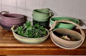 kitchen rope baskets team roping western gifts nancy waldron