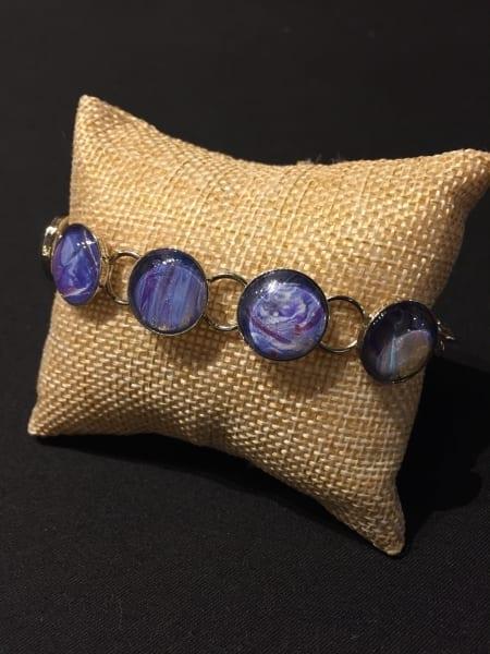 Acrylic Pour Bracelet - Blue