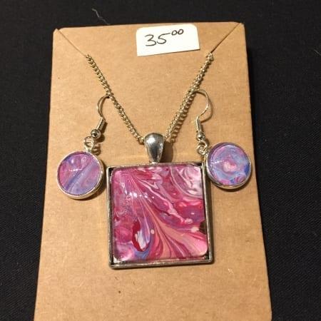 Acrylic Pour Necklace