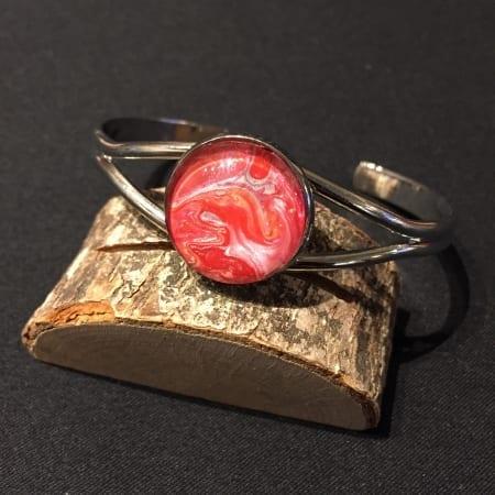 Acrylic Pour Wire Bracelet