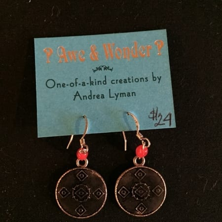 Red and Copper Earrings