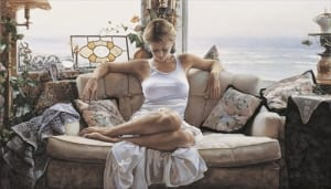 woman giving time beauty thinking search within steve hanks art