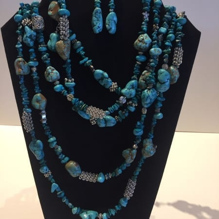Necklace & Earrings Set - Turquoise