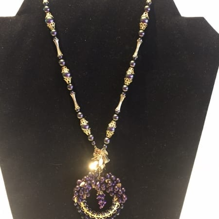 Necklace - Grape & Wine Design