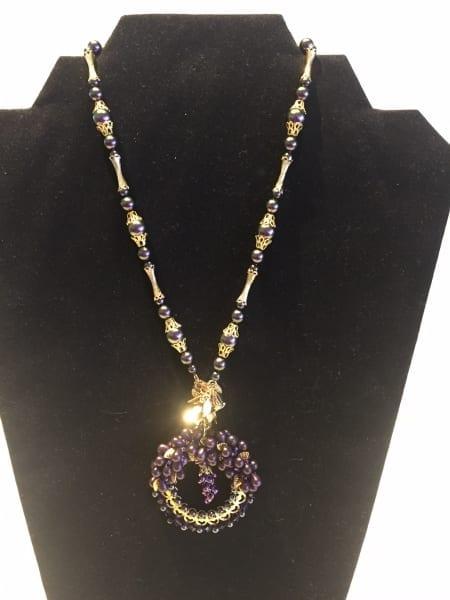 Necklace - Grape & Wine Design