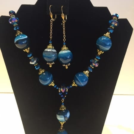 Necklace & Earrings Set - Blue Dreams