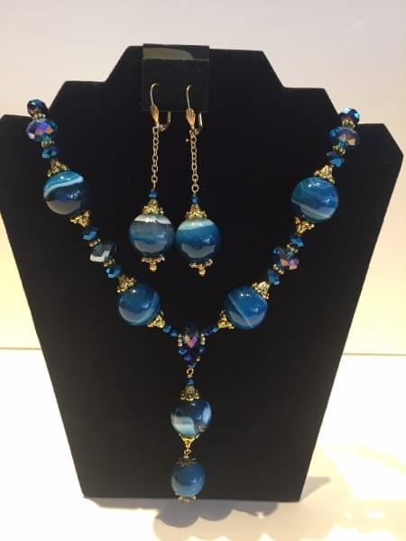 Necklace & Earrings Set - Blue Dreams