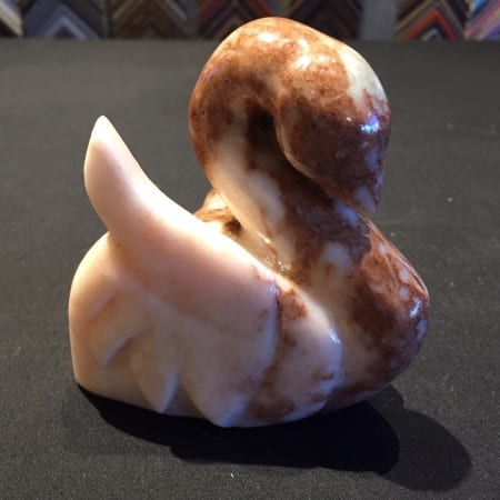 Two Tone Alabaster Swan