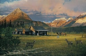 early morning visitors deer welcoming country william phillips