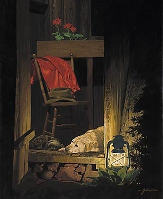 Evening Companions harmonious dogs sleeping john weiss
