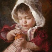 juicy peach child toddler curious nostalgic innocence morgan weistling