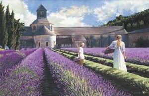lavender light sun flowers heidi presse art