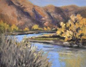 yakima canyon river pastel painting landscape bjorge art
