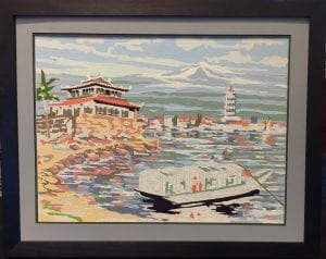 paint-by-number art framing unfinished bay mountain japan fuji