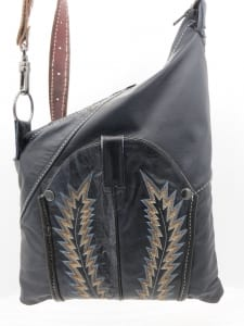 kirsten leather cowboy boot bag pozzanghera
