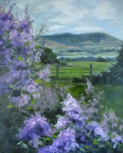 flowers floral landscape lilace purple season time pittenger impressionism