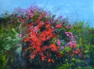 flowers floral bush fruition season time pittenger impressionism painting landscape
