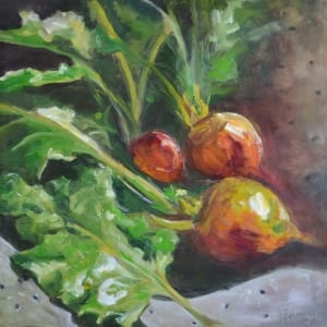 golden beets vegetables produce pittenger impressionism painting