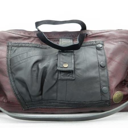 Large Deep Burgundy Leather Bag