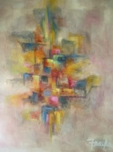 silent way abstract painting oil art frankie laufer